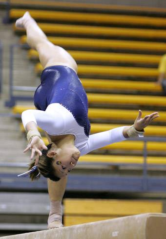 Photo: The Bears are stillwinless in the Pac-10 after a 195.225-189.425 loss to the Bruins.