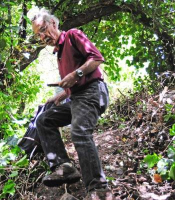 Photo: Ray Chamberlin travels down a Berkeley path. The Berkeley Path Wanderers Association maintains paths in the Berkeley area.
