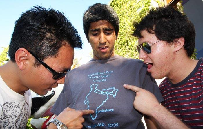 Photo: Seniors Brian Wong, left, and Sonny Sabhlok, middle, decided to enter the Rickshaw Run after seeing  a Web site for the event. They recruited junior Allen Rodriguez, right, to be a part of their