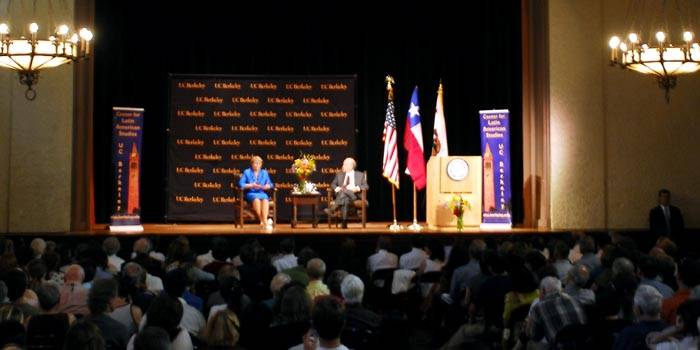 Photo: Chilean President Michelle Bachelet spoke at International House on Thursday, attracting an audience of about 500 people.