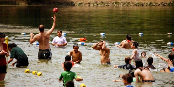 Photo: STAYING COOL. Tilden Park's Lake Anza is a favorite getaway among students and  families alike.