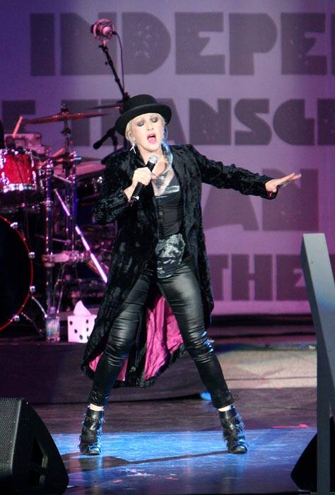 Photo: SHE'S SO UNUSUAL. Cyndi Lauper's True Colors tour made its Berkeley stop Sunday, with the singer headlining and promoting her political agenda.