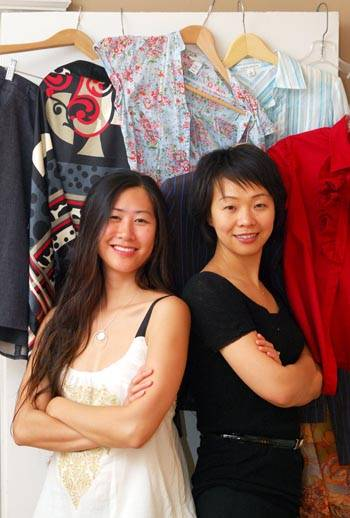 Photo: Chictopia co-founders Corinne Chan and Helen Zhu (right) launched the social networking fashion Web site this spring.