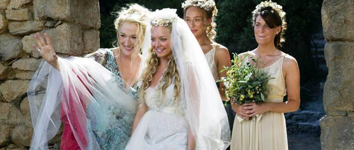 Photo: I HAVE A DREAM. Meryl Streep (left) and Amanda Seyfried (center) are a mother-daughter pair in musical 'Mamma Mia.'