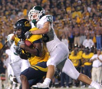 Photo: Tight end Cameron Morrah led all Cal receivers last week against Michigan State with five receptions for 93 yards and a touchdown.