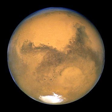 Photo: Mars as seen from the Hubble Space Telescope.