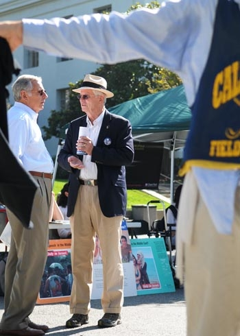 Photo: Current Mayor Tom Bates came to Upper Sproul on Tuesday to campaign for the 2008 mayoral elections. He ran against his current opponent, Shirley Dean, to win the governorship.