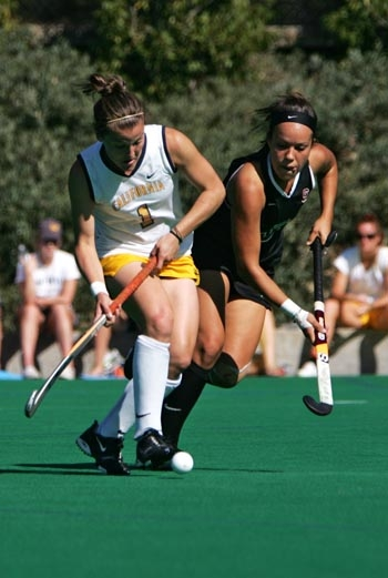 Photo: Cal forward Ashley Glosz led the Bears with 14 goals and 30 points in 18 games for the 2008 season. Four of those goals were game-winners, helping Cal to an overall 13-5 record.