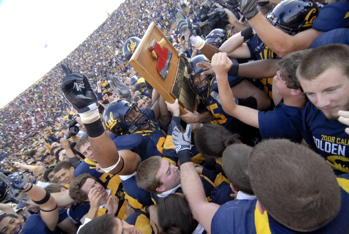 Photo: The Bears won back the Axe during the Big Game with a score of 37-16.