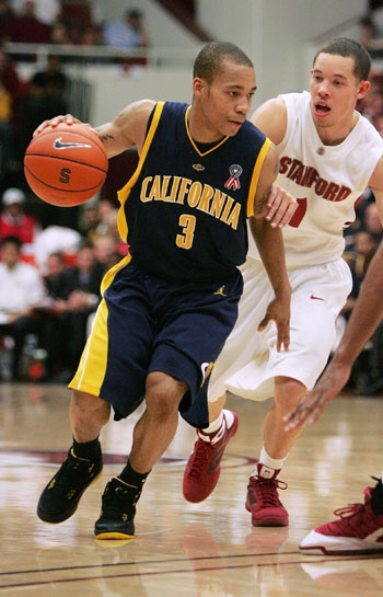 Photo: Bears point guard Jerome Randle had trouble finding any room against Stanford on Saturday evening as the Cardinal held the Pac-10's second-leading scorer to just 13 points and forced him into six turnovers.