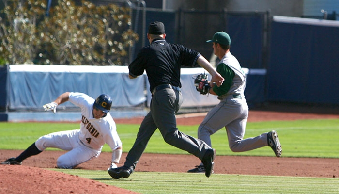 Photo: <b>Center fielder Brett Jackson</b> is hitting .403 for the season and leads Cal with an on-base percentage of .476.