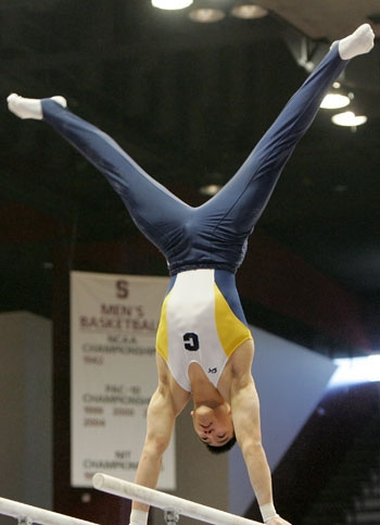 Photo: <b>Sophomore Kyle Bunthuwong</b> finished in third place in the all-around with a score of 89.000.