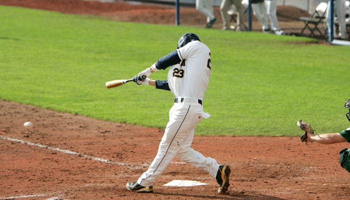 Photo: <b>Junior Jeff Kobernus</b> enters today's game against UC Davis hitting .309 and tied for the team lead with nine stolen bases.