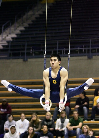 Photo: <b>Kyle Bunthuwong</b> was the only Cal gymnast to record a 14.000 or better on the pommel horse at the MPSF championships, an area the Bears will need to improve on during the NCAA qualifiers.