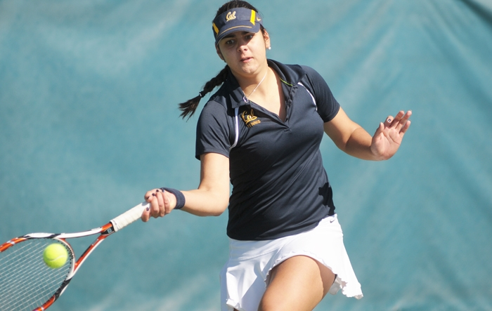 Photo: Freshman Jana Juricova decided to put off the professional tour in favor of the team atmosphere at Cal. She has risen to the No. 8 singles ranking in her first season.