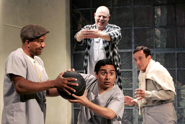 Photo: Fun and games. Hansford Prince, Gilberto Esqueda, Joe Madero and Louis Parnell star in the stage version of Kesey's famous novel.