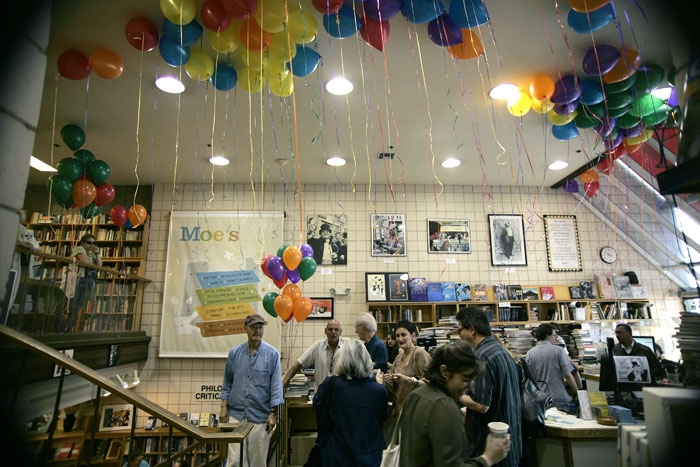 Photo: Moe's Books held an in-store party Saturday celebrating its 50th year in business. This year's party, an annual tradition that began as a commemoration of founder Moe Moskowitz's birthday, focused on recognizing the store's staff for their achievements.