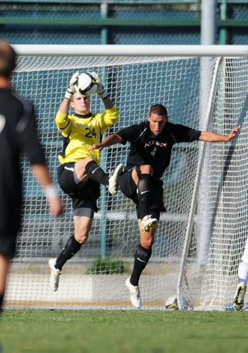 Photo: Stefan Frei left Cal after his junior year to pursue a career in Major League Soccer. The All-Pac-10 selection was the first goalkeeper taken in the 2009 Draft, selected 13th overall by Toronto FC. He is currently a candidate for the MLS Rookie of the Year award.