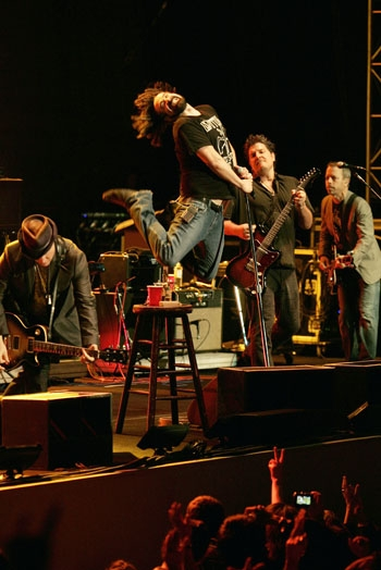 Photo: As the crow flies ... Berkeley-bred band the Counting Crows performed with Augustana last Sunday. Michael Franti was scheduled to play but was unable to due to a health issue.
