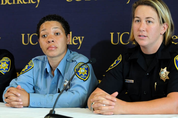 Photo: UCPD event manager Lisa Campbell (left) and Officer Allison Jacobs (right) were commended for their roles in helping Jacyee Lee Dugard be reunited with her family 18 years after she was kidnapped in 1991.