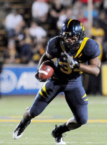 Photo: <b>Cal running back Shane Vereen</b> carried 10 times for 48 yards and a touchdown against Maryland, and also caught three passes for 46 yards and a score.