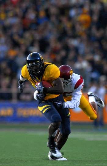 Photo: <b>Wide receiver Jeremy Ross</b> had three receptions for 28 yards against the Trojans. The Cal wide receiver corps combined for just 95 yards in Saturday's loss to USC.