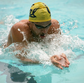 Photo: <b>Senior Sean Mahoney</b>, a breaststroke specialist, returns to Cal after being named to the U.S. Swimming 2009-10 National Team.