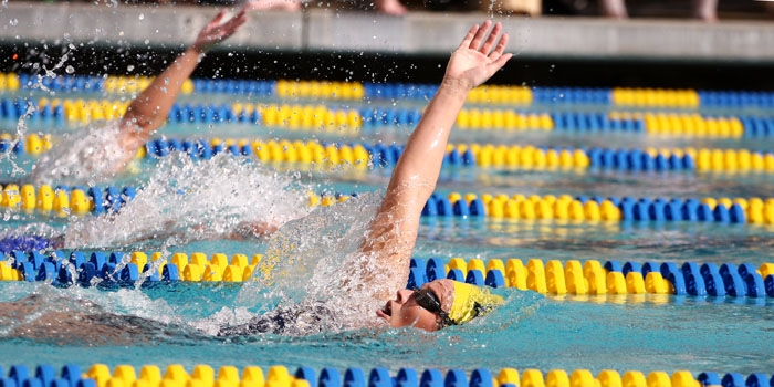 Photo: <b>Courtney Eronemo</b> and the Cal women's swimming team won the NCAA title in 2009. Then a junior, Eronemo earned 16th place in the 200-yard butterfly at the Pac-10 championships.