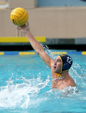 Photo: <b>Senior captain Spencer Warden</b> scored two goals in the Cal men's water polo team's victory against Santa Clara on Sunday.