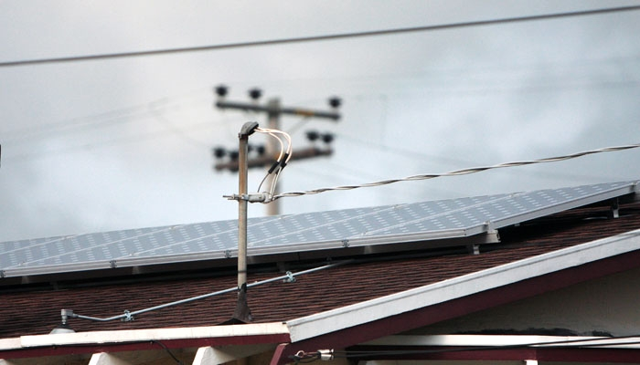 Photo: <b>Solar panels</b> were installed as part of a recent Berkeley program, which funded the installations through increases in the households' property taxes. This project has inspired a new federal energy program, as announced by Vice President Joe Biden.