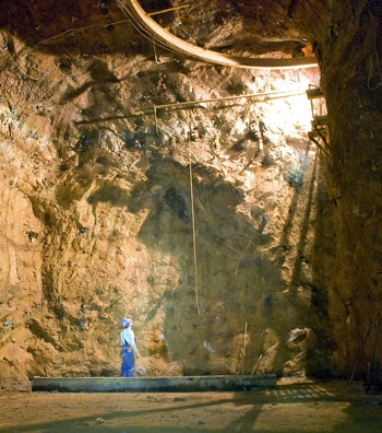 Photo: The 8,000-foot deep Homestake Gold Mine in South Dakota is the site where scientists, including UC Berkeley researchers, plan to construct the world's deepest research center.