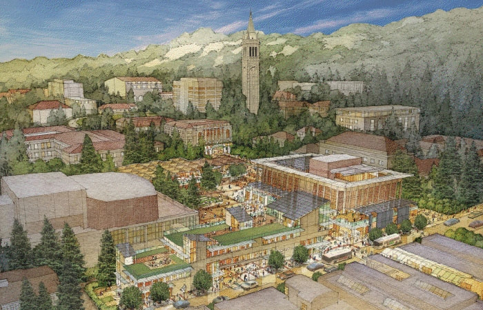 Photo: Lower Sproul Plaza could be the heart of student activity if the renovation plan goes through. This is an artist's rendering of how the area would look.