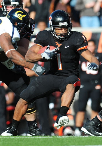 Photo: <b>Oregon State sophomore Jacquizz Rodgers</b> is second in the Pac-10 in all-purpose yardage. His brother James, who also plays for the Beavers, leads the conference in that category.