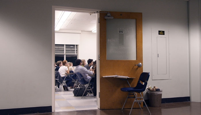 Photo: Student groups often use rooms such as 219 Dwinelle to conduct meetings. These rooms have become more difficult to obtain due to competition with academic departments.