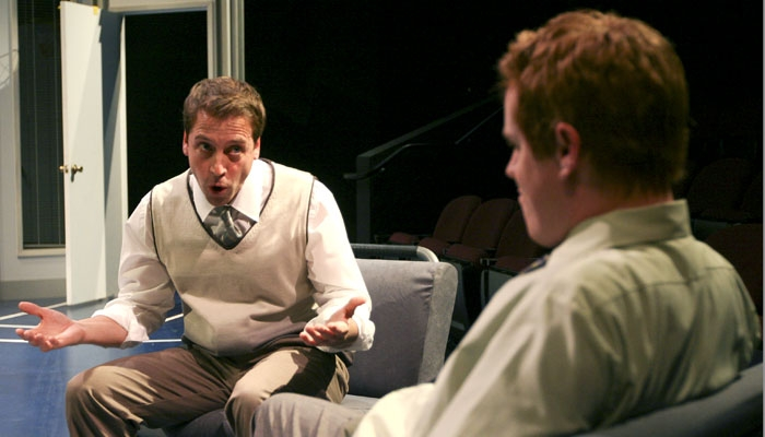 Photo: Weight watchers. Peter Ruocco as Carter and Jud Williford as Tom perform in a scene from 'Fat Pig,' Neil LaBute's brutally honest look into body image and modern values.