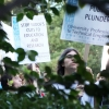 Photo: Protests continued, albeit at a smaller scale, across campus Thursday, though the regents' passage of the fee increases has left some strikers unsure how to proceed.