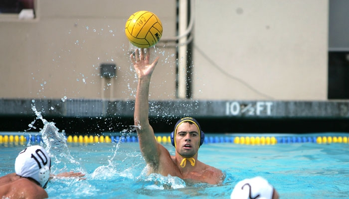 Photo: Mike Sample was one of just two seniors on the Cal men's water polo team this season. The Bears lost to UCLA in the MPSF final, 10-7.