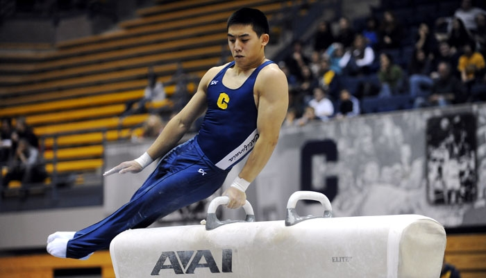 Photo: Junior Kyle Bunthuwong finished second in the all-around in Cal's season opener on Friday night. Stanford defeated the Bears, 352.75-340.10, in six rotations of competition.