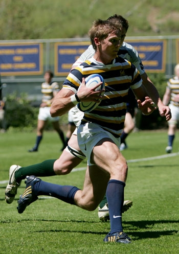 Photo: Colin Hawley is one of several returning All-America backs for the Cal rugby team, which lost numerous forwards to graduation.