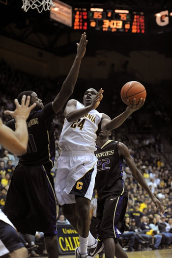 Photo: <b>Forward Theo Robertson</b> had a team-high 15 points in Cal's losing effort at Oregon State.