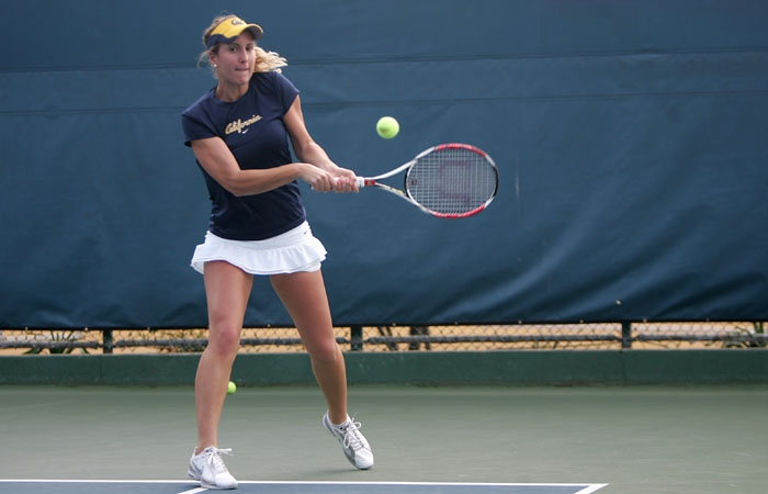 Photo: Marina Cossou was one of four Cal players that endured a three-set match against the Sun Devils in Monday's win. Cossou also earned the first point of the day in doubles play.
