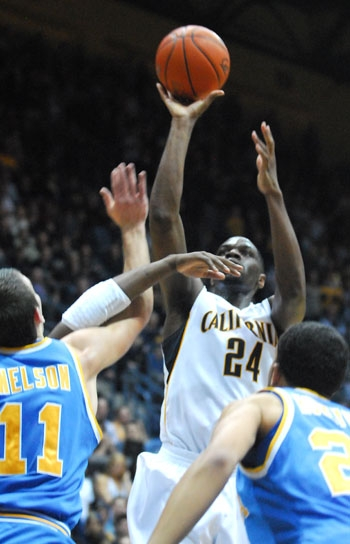 Photo: <b>Senior Theo Robertson</b> will be making his third appearance in the NCAA tournament as a member of the Cal men's basketball team. The two previous times, the Bears failed to advance past the first round of the tournament.