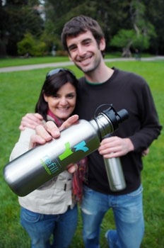 Photo: Graduate students Nicole Ballin and Aaron Schwartz created the Facebook application