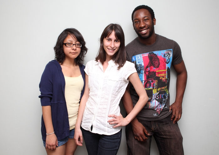 Photo: Maria Belman, Talya Hezi and Jonathon Brooks (left to right) will run for external affairs vice president, president and student advocate, respectively. Damien Anderson (not pictured) will run for academic affairs vice president.
