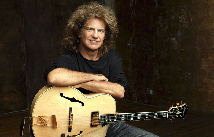 Photo: Conducting an Orchestrion. At Zellerbach Hall on Saturday, Pat Metheny wowed the audience with his virtuostic guitar playing and impressive contraption, the Orchestrion.