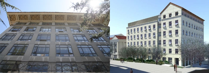Photo: UC Berkeley's Campbell Hall (left) was deemed seismically