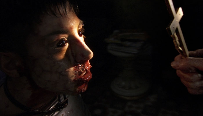 Photo: Does this bloodsauce make me look fat? Once again, Jaume Balaguero and Paco Plaza run the gamut of terror in '[REC]2.'