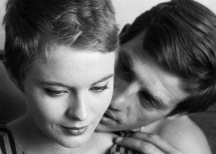 Photo: Heavy breathing. Michel (Jean-Paul Belmondo) and Patricia (Jean Seberg) flirt in Godard's 1960 classic 'Breathless,' which has just been restored for its 50th anniversary.