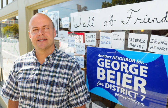 Photo: George Beier and Cecilia Rosales are challenging incumbent Kriss Worthington for the District 7 seat he has held for 14 years.