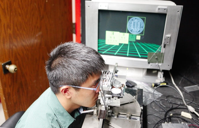 Photo: Postdoctoral researcher Joohwan Kim is investigating how the eye perceives the 3-D effects increasingly used in movies and television.